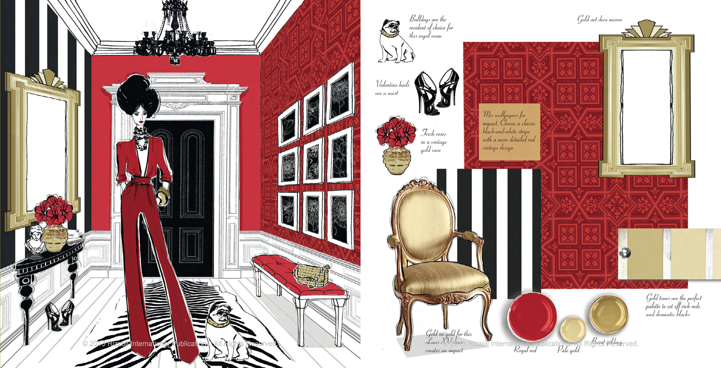 Fashion House: Illustrated Interiors from the Icons of Style ...