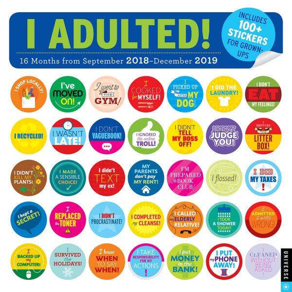 I Adulted Calendar 2019